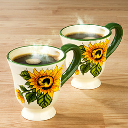 "1 Kaffeetasse ""Sonnenblume"""