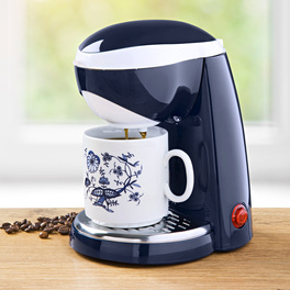 1-Tasse-Kaffeemaschine blau