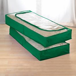 2 Unterbett-Kommoden grün