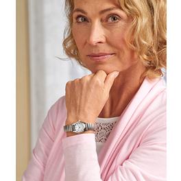 Armbanduhr silberfarben, Ø 2,8 cm