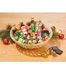 Beschwipster Weihnachtskorb, 50 Teile