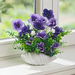 Blütengesteck im Topf