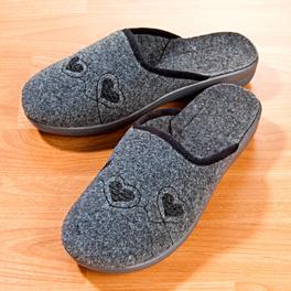 "Damen-Pantoffel ""Samira"" grau"