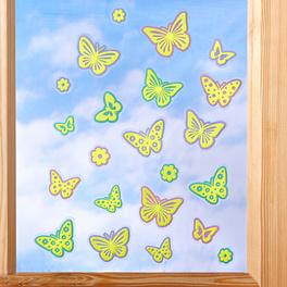 """Fensterbild """"Schmetterlinge"""" selbstleuchtend"""