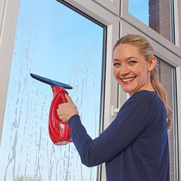 Fensterreiniger kabellos, rot