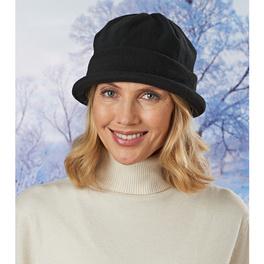 Fleece-Mütze schwarz