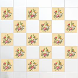 "Fliesenaufkleber ""Blumen"", 12er-Set"