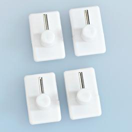Gardinenhaken, weiß, 4er-Set