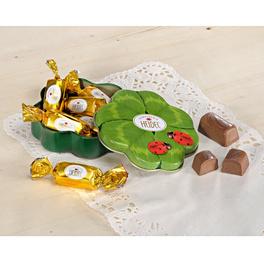 """Geschenkdose + Konfekt """"Kleeblatt"""""""