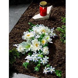 Grableger mit weißen Blüten