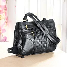 Handtasche mit Flechtung schwarz