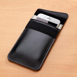 Handy-Hülle mit Strahlenschutz, schwarz