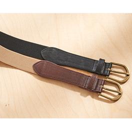 Herrengürtel elastisch schwarz/beige, 2er-Set