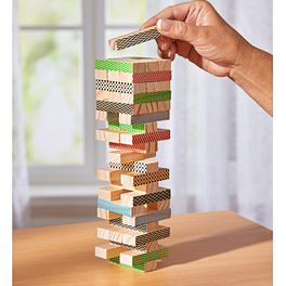 """Holzspiel """"Wackelturm"""" Holz, 42-tlg."""