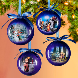 Hummel-Weihnachtskugeln dunkelblau, 4er-Set