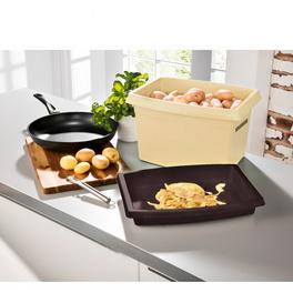 Kartoffelbox beige-braun