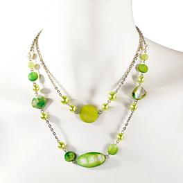 Kette smaragdgrün