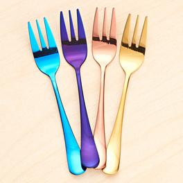 Kuchengabeln 4-farbig, 4er-Set