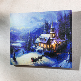 "LED-Bild ""Winterlandschaft"""