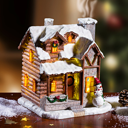 LED-Weihnachts-Räucherhaus