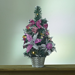 LED-Weihnachtsbaum lila-silber