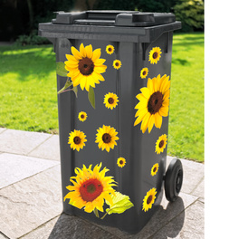 """Mülltonnenaufkleber """"Sonnenblumen"""", 15-tlg."""