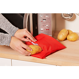Mikrowellentasche für Kartoffeln, rot