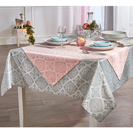 "Mitteldecke ""Arabeske"" rosé, 85 x 85 cm"