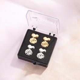 Ohrring-Verschlüsse gold + silber, 2 Paar