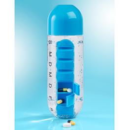 Pillenbox mit Flasche