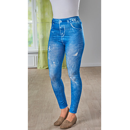 Slim-Jeggings jeans-blau used