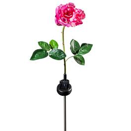 """Solarleuchte """"Rose"""" rosé-weiß"""
