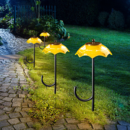 """Solarleuchte """"Schirm"""" gelb"""