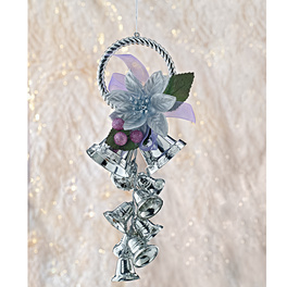 Sternhänger lila-silber