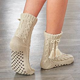 Stopper-Socken beige