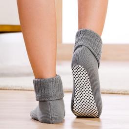 Stopper-Socken grau