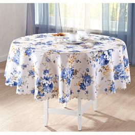 """Tischdecke """"Blaue Blüten"""" rund, Ø 140 cm"""