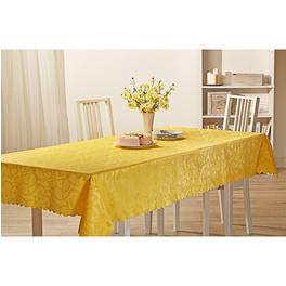 """Tischdecke """"Rosen-Jacquard"""" gelb, 130 x 220 cm"""