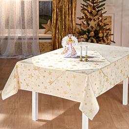 """Tischdecke """"Sterne"""" creme, 150 x 250 cm"""