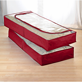 Unterbett-Kommoden rot, 2er-Set