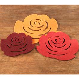 """Untersetzer """"Rose"""", 3er-Set"""