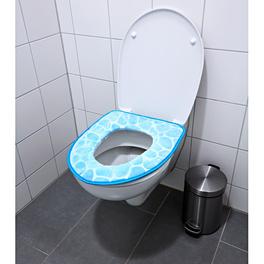 WC-Sitzpolster blau
