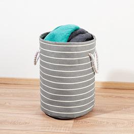 Wäschekorb grau-weiß