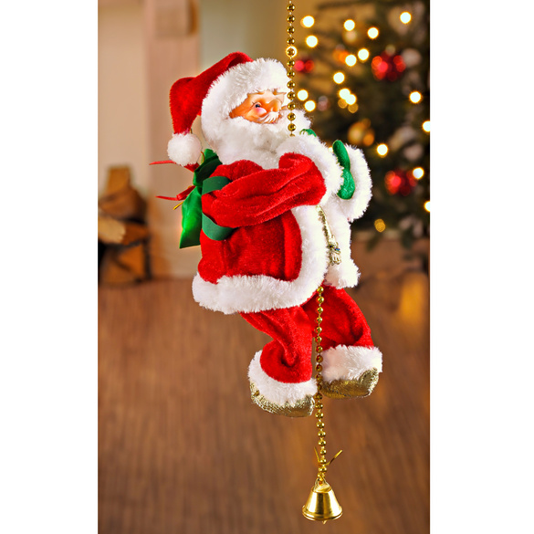 Weihnachtsmann kletternd
