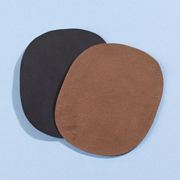 Aufbügel-Stoffe schwarz + braun