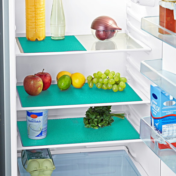 Kühlschrankmatten türkis, 5er-Set
