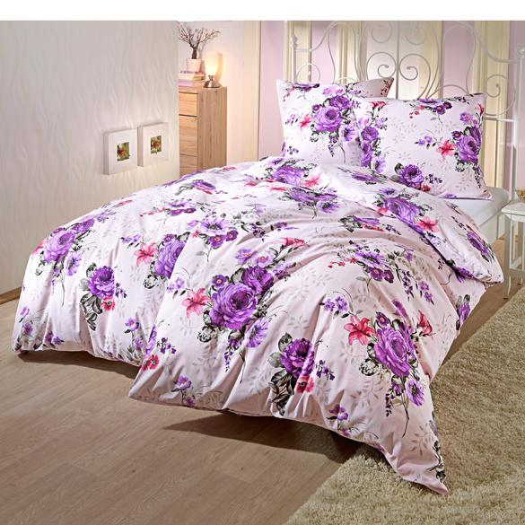 """Bettwäsche """"Blütenpracht"""" lila"""