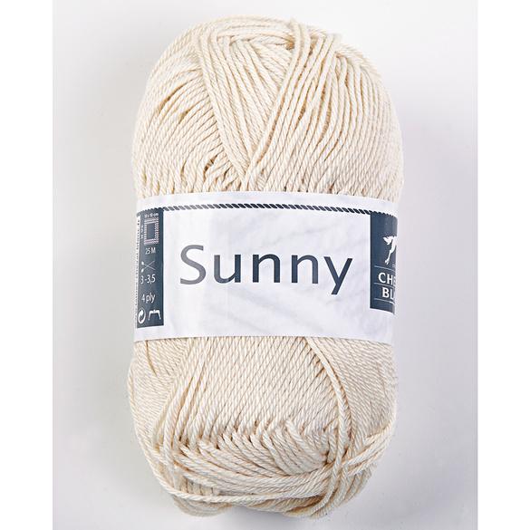 """Baumwollgarn """"Sunny"""" wollweiß"""