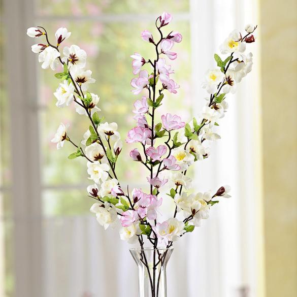 """Dekozweig """"Blüten"""" weiß"""