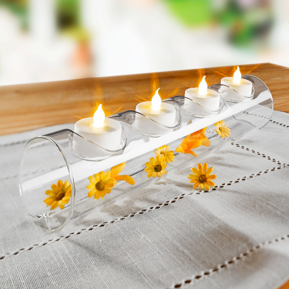 Batterie-Teelichter, 4er-Set